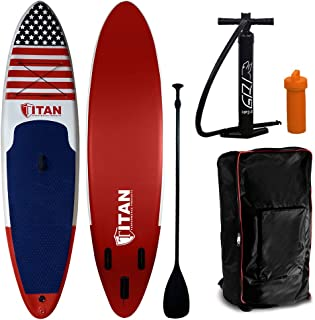 Wet Hot American Summer Inflatable Standup Paddleboard (10 Feet 6 Inches). Military Grade Drop Stitch PVC Core Interior. Stand Up Paddle Board Comes with Adjustable Paddle, Coil Leash and Pump.