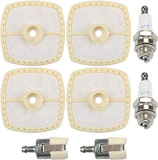 Dxent 6Pcs SRM225 Air Filter Fuel Filter for Echo A226001410 SRM210 GT200 GT225 GT230 SRM230 String Trimmer PB200 PB250 Leaf Blower PB250LN PE200 PE225