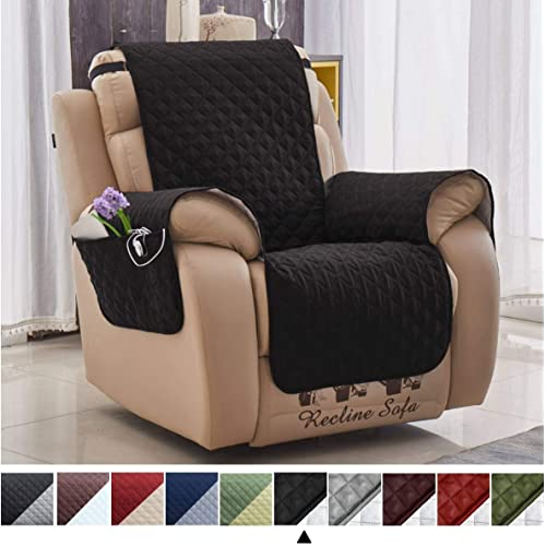 Fleece Armchair Recliner Cover Protector Furniture Cover w//Pockets Pet Protector