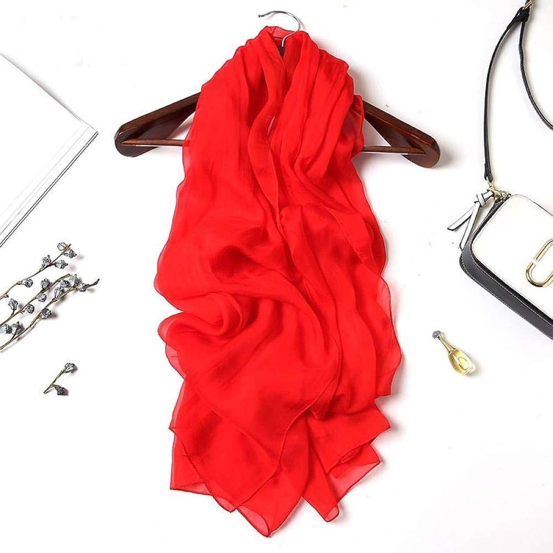 Ladies Vintage Silk Scarves Silk Pure color Scarf Long Joker Summer Sunscreen Shawl Jiss