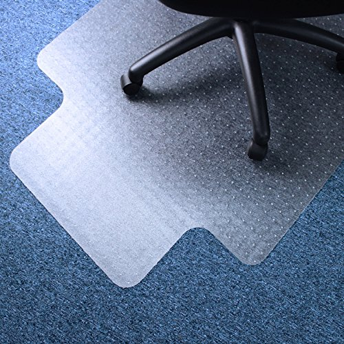 Marvelux Vinyl (PVC) Office Chair Mat for Very Low Pile Carpeted Floors 48' x 51' | Transparent Carpet Protector with Lip | Multiple Sizes