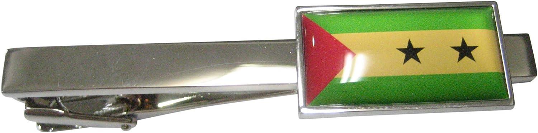 Kiola Designs Thin Bordered São Tomé and Príncipe Flag Tie Clip