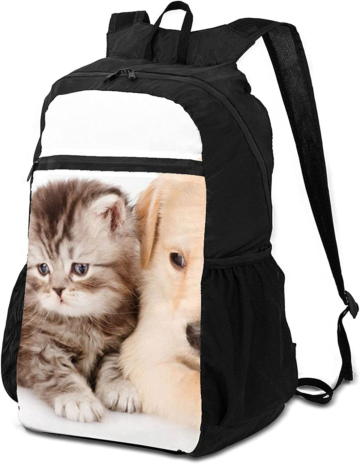 Cute Dog And Cat Lightweight Portland Mall Packable for Out Men Backpack Import Women