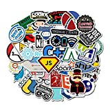 BLOUR Nuevo 50 Unids/Set Programación Tecnología de Etiqueta Programas de Software Etiqueta de computadora de Datos para Geek DIY Computadora Computadora portátil Teléfono portátil