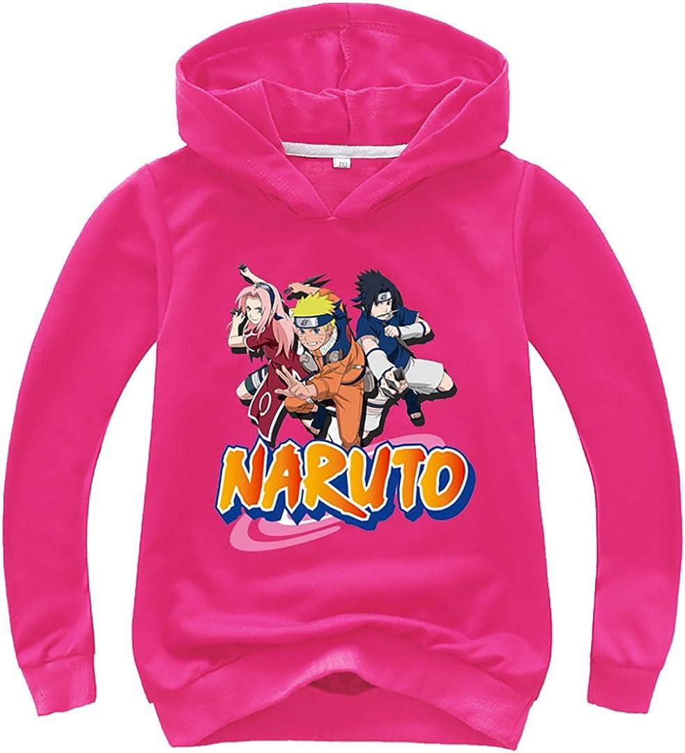Silver Basic M/ädchen Sweatshirt Naruto Anime Hoodie Uchiha Itachi Akatsuki Cartoon Manga Langarm Pulli