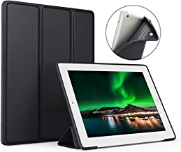 Aoub (Old Model) for ipad 2/3/4 case Slim Lightweight Tri-Fold Silicone Stand Cover with Auto Sleep/Wake Function,for Old iPad 2th/3th/4th Generation case (Black)