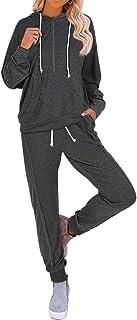 Fixmatti Women Sweatsuit Pullover Hoodie Pockets Sweatpants Sport Jogger Tracksuits
