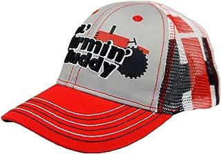 LiL` Farmin` Buddy Mesh Back Grey with Red Brim Todder Cap