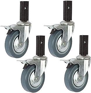 Zwenkwielen Meubelwielen Bewegende zwenkwielen 4X rubberen zwenkwiel Industriële zwenkwielen van 4 inch Stil en slijtvast ...