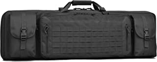 """BOW-TAC Double Long Rifle Gun Case Bag Tactical Rifle Backpack Pistol Soft Firearm Transportation Carbine Case - Lockable Compartment, Available Length in 36"""" 42"""" 46"""""""