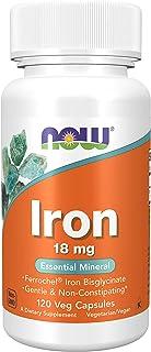 Now Foods - Iron (Ferrochel Chelated Iron) 18 Mg. 120 Vegetarian Capsules