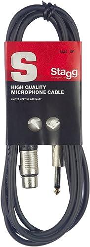 Stagg 6 m Câble Microphone XLR - Phono de Haute Qualité - Noir