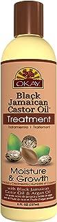 Okay Jamaican Castor Oil, Moisture Growth Treatment, Black, 8 oz.