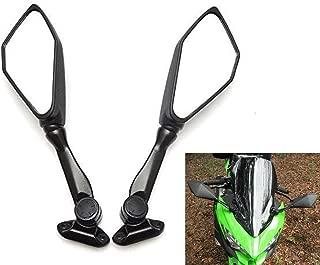 kemimoto Fits Kawasaki Ninja 300 Mirrors Motorcycle Rear View Mirror Ninja 250 ZX 6R 636 300R EX300 ABS 400 2011 2012 2013 2014 2015 2016 2017