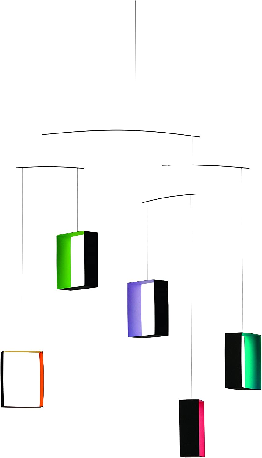 Windows, colord Views Hanging Mobile - 26 Inches - Handmade in Denmark by Flensted