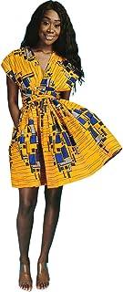 Koly Robe Femme Casual Profondes Robes Haute Elasticite Imprimer Bodycon Partie V Neck Traditionnelle Africaine Robe De Cocktail Ete