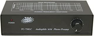 Technolink TC-750LC Audiophile RIAA Phono Preamp with Output Level Control, 85dB S/N; Black or Silver, Your Choice (Black)