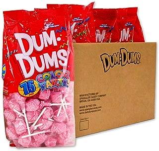 Dum Dums Light Pink Bubble Gum 4-75 count bags
