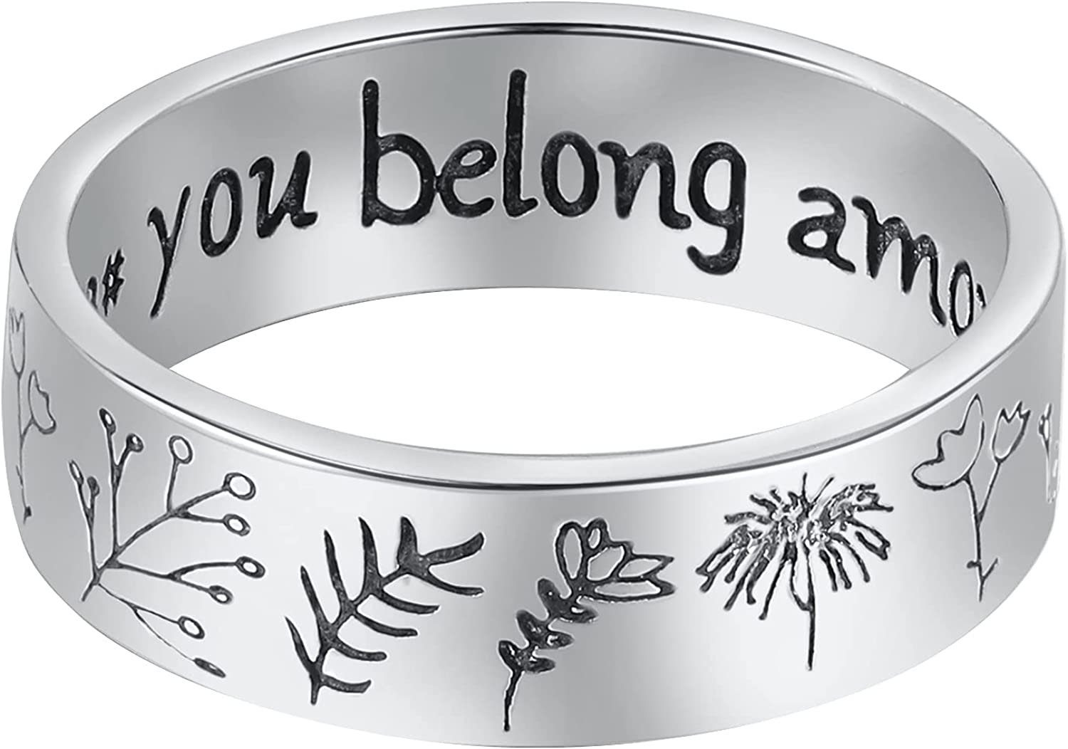 Wildflowers Rings LOVECOM Deluxe 925 Sterling Silver Seattle Mall W Floral for