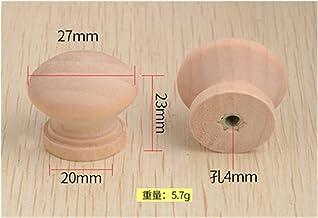 MeiZi 10 stks enkele gat ronde massief houten kast handgrepen en knoppen ladedeur trekt meubelhardware (Color : A22)
