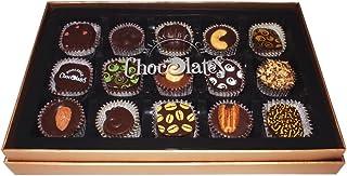 Gluten Free Vegan Dark Chocolate, Kosher Parve, with Gift Box, 15 Pieces