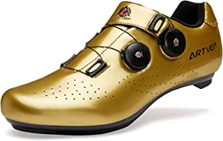Mens Cycling Shoes Women Road Bikes MTB Shoes Compatible with Look SPD SPD-SL Delta Cleats Spinning Peloton Shoes Indoor/O...