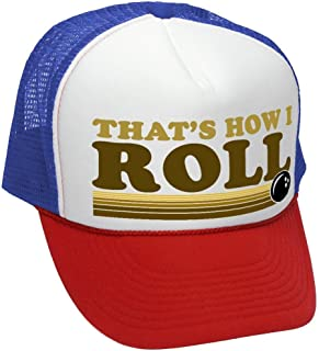 7f46b1b2 That's How I ROLL - Bowling Retro Vintage Style - Unisex Adult Trucker Cap  Hat