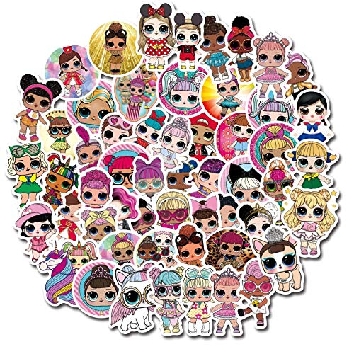 LOL Surprise Doll Cartoon Stickers Suitcase Trolley Case Suitcase Graffiti Waterproof Stickers Toys For Children100 Pcs
