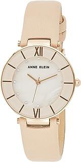 Anne Klein Women's AK/3272 Premium Crystal Accented Leather Strap Watch