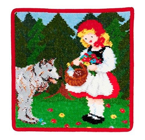 Feiler rood kaeppchen00480120, zeepdoek, roodkapje, 25 x 25 cm, rood