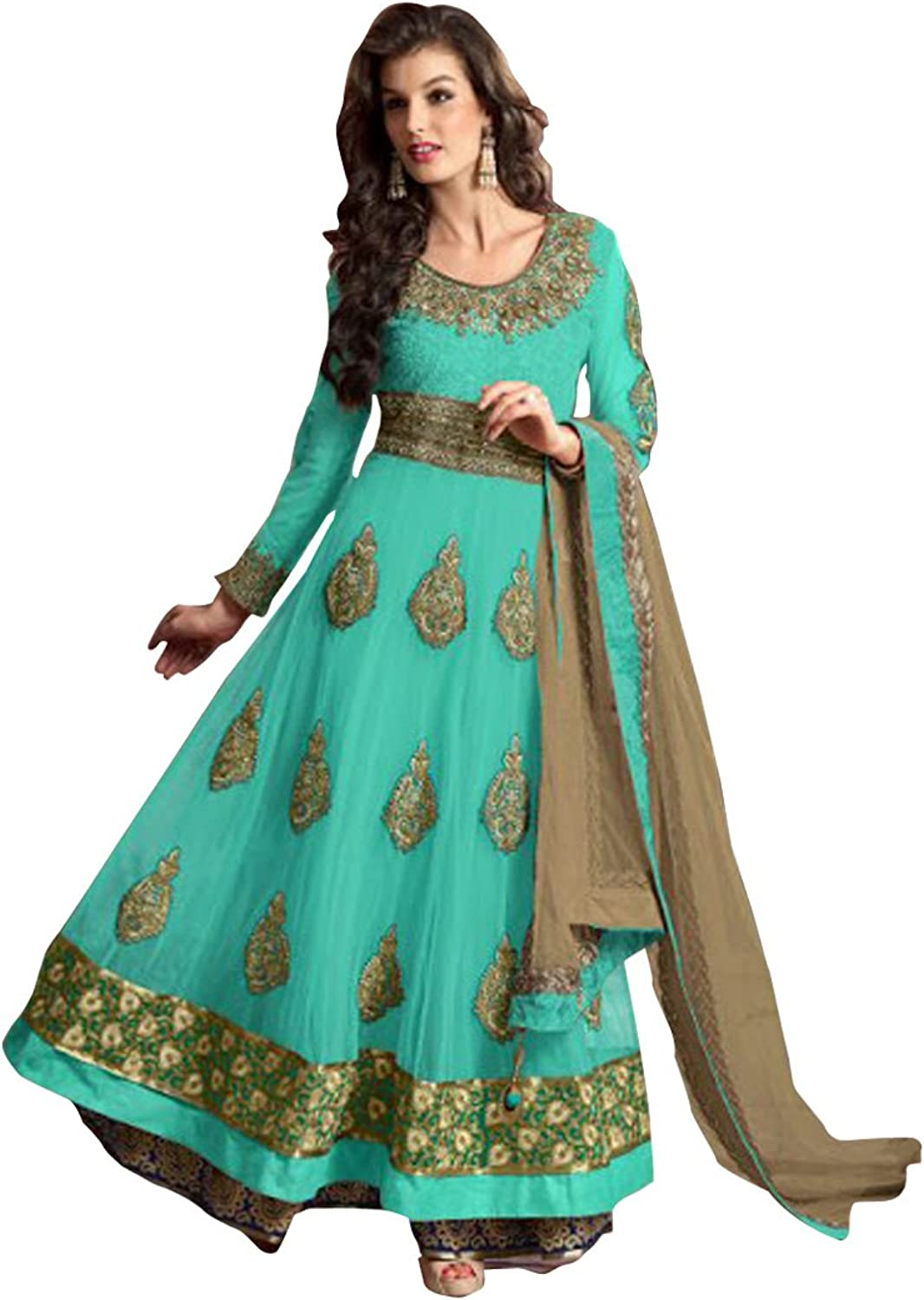 SHRI BALAJI SILK & COTTON SAREE EMPORIUM Indian Anarkali Salwar Kameez Suit Wedding Ethnic Muslim Women Dress Sexy