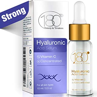 Hyaluronic Acid Serum For Face - 180 Cosmetics - Face Serum For Face and Eyes - Pure Hyaluronic Acid Serum for Reduced Wrinkles and Fine Line and for Visibly Plumped and Hydrated Skin