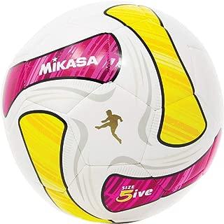 Mikasa SWA SeriesSoccer Ball, White/Pink/Yellow, Size 5
