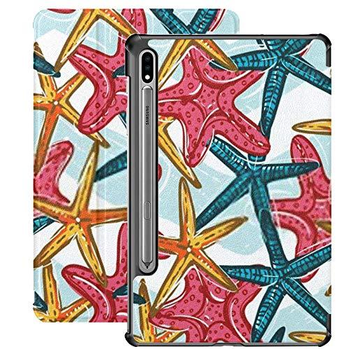 Estuche para Galaxy Tab S7 Estuche Delgado y liviano con Soporte para Tableta Samsung Galaxy Tab S7 de 11 Pulgadas Sm-t870 Sm-t875 Sm-t878 2020 Lanzamiento, Colorido Estilo Infantil Dibujado a Mano