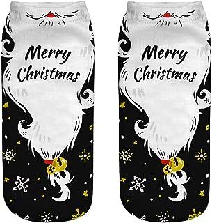 Bascar, Bascar - Calcetines de Navidad para mujer o niña, divertidos y coloridos, diseño navideño impreso, calcetines deportivos, regalo