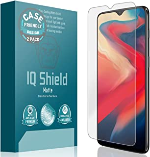 OnePlus 6T Screen Protector [Case Friendly][2-Pack], IQ Shield Matte Anti-Glare Screen Protector for OnePlus 6T Bubble-Fre...