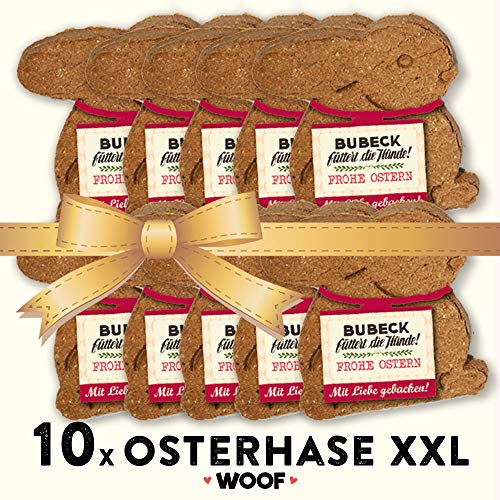 Bubeck | Osterhase Bundle | 10 - XXL - Osterhase | gebackener Hundekuchen