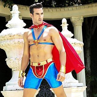 MEN.CLOTHING-LEE Costumi per Adulti Abbigliamento Erotico Sexy Red Superman Spider-Man Sexy Uomo Gilet Mantello Sexy Linge...