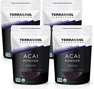 Terrasoul Superfoods Organic Acai Berry Powder, 1 Lb - Freeze-Dried | Antioxidants | Omega Fats