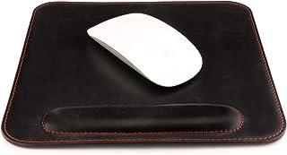 Londo Mousepad de couro com descanso de pulso