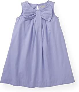 Hope & Henry Girls' Dress with Bow Front