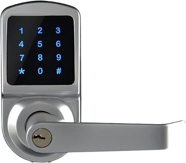 SCYAN X3 Touchscreen Keyless Keypad Door Lock Satin Chrome Non Handed