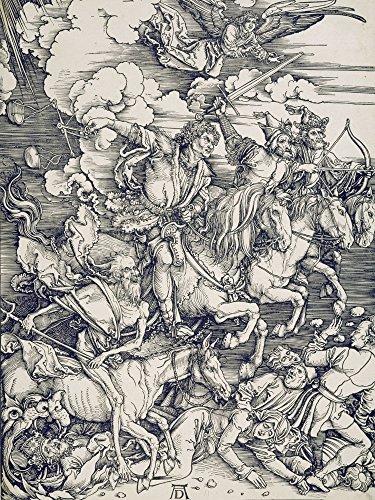 Artland Alte Meister Wandbild Albrecht Dürer Der apokalyptische Reiter Leinwand Bilder 60 x 45 cm...