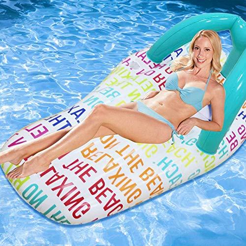 Gcxzb Schwimmreifen Airbetten Strand Meer Pool Wasser Aufblasbarer Schwimmring Erwachsene Spielzeug Wasser Hausschuhe schwebende Reihe Floating 158 * 70cm