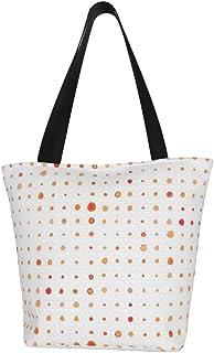 Lesif Einkaufstaschen, Meerglas, rote Punkte, Segeltuch, Einkaufstasche, wiederverwendbar, faltbar, Reisetasche, groß und langlebig, robuste Einkaufstaschen