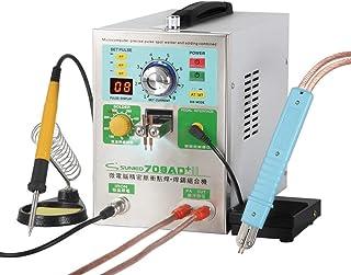 Soldador de puntos de batería recargable 709AD, 220V 1.9kw Doble LED Movedor de puntos