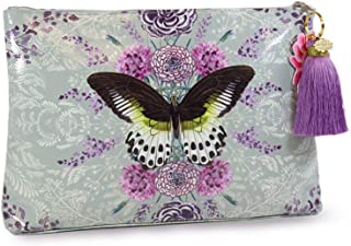 Papaya: Large Tassel Pouch, Artistic Cosmetic Bag, Carry-All Travel Clutch (Rare Species)