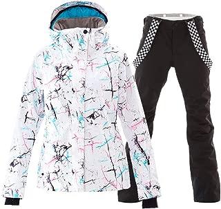 Women's Ski Jackets and Pants Set Windproof Waterproof...