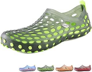 beister Men's Ultralight Hollow Sandals Summer Aqua Breathable Comfort Water Shoes