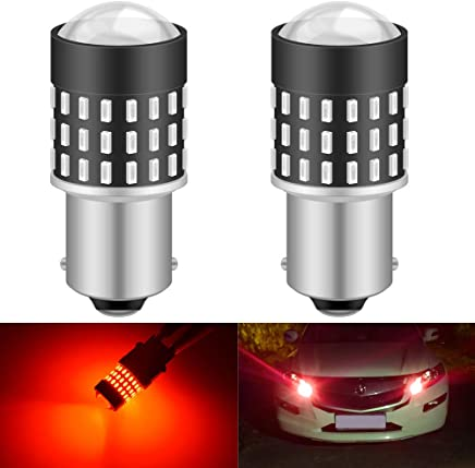 KaTur 194 LED Light Bulb 800LM CANBUS Error Free 168 2825 W5W T10 24-SMD 4014 Chipsets LED Replacement Bulbs for Car Courtesy Dome Map Door License Plate Lights 10pcs,Red